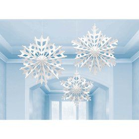Snowflake Fan Hanging Decorating Kit