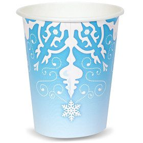 Snowflake Winter Wonderland 9 oz. Cups (8)