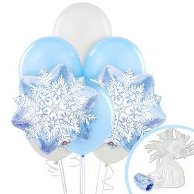 Snowflake Winter Wonderland Balloon Bouquet