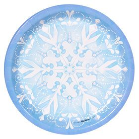 Snowflake Winter Wonderland Dinner Plates (8)