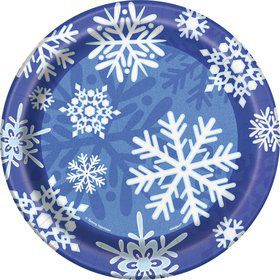 Snowflakes Cake Plates (8 Pack)