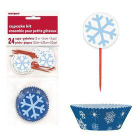 Snowflakes Cupcake Kit Set (For 24 Cupcakes)