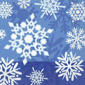 Snowflakes Luncheon Napkins (16 Pack)