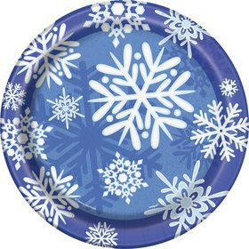 Snowflakes Luncheon Plates (8 Pack)