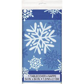 Snowflakes Plastic Table Cover (Each)