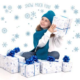 Snowflakes Snow Much Fun Small Wall Decal