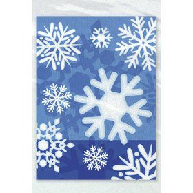 Snowflakes Treat Favor Bags (50 Pack)