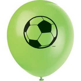 "Soccer 12"" Latex Balloons Asst. (8 Pack)"
