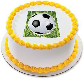 "Soccer 7.5"" Round Edible Cake Topper (Each)"