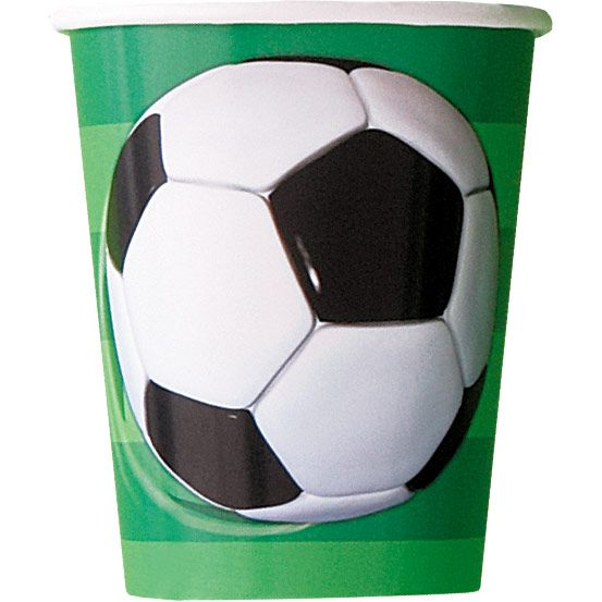 Soccer 9Oz Cups (8 Pack) - Party Supplies BB27306
