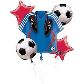 Soccer Balloon Bouquet (5 pack)