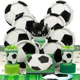 Soccer Birthday Party Deluxe Tableware Kit Serves 8
