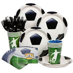 Soccer Birthday Party Standard Tableware Kit Serves 8