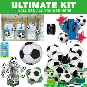 Soccer Birthday Party Ultimate Tableware Kit Serves 8