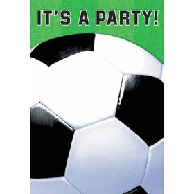 Soccer Folded Invitation (6 Pack)