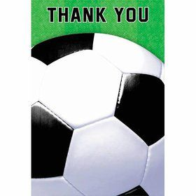 Soccer Folded Thank You Notes (6 Pack)