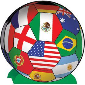 "Soccer International 10"" Centerpiece (Each)"