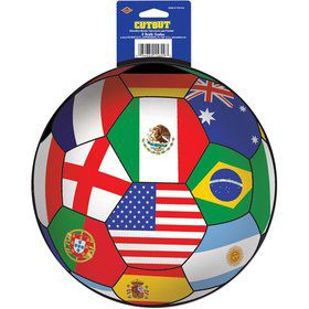 "Soccer International 14"" Cutout Decoration (Each)"