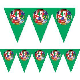 Soccer International Pennant 12' Heavy Duty Banner (Each)