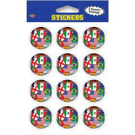 Soccer International Stickers (2 Sheets)