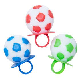 Soccer Lollipop Rings (3 Count)