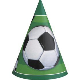 Soccer Party Hats (8 Pack)