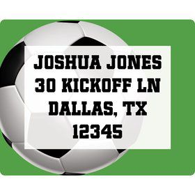Soccer Party Personalized Address Labels (sheet of 15)