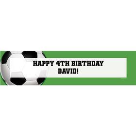 Soccer Party Personalized Banner (each)