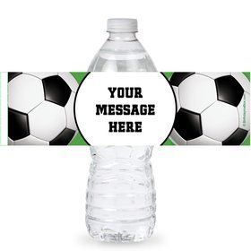 Soccer Party Personalized Bottle Labels (Sheet of 4)