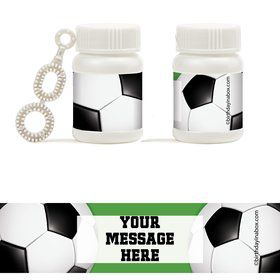 Soccer Party Personalized Bubbles (18 Pack)