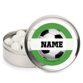 Soccer Party Personalized Candy Tins (12 Pack)