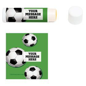 Soccer Party Personalized Lip Balm (12 Pack)