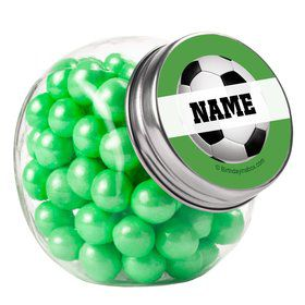 Soccer Party Personalized Plain Glass Jars (10 Count)