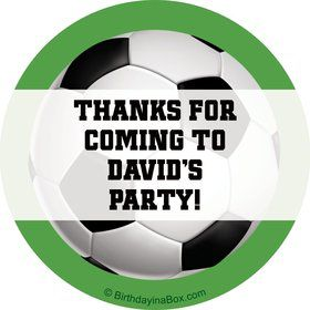 Soccer Party Personalized Sticker (sheet of 12)