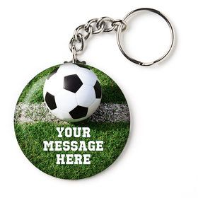 "Soccer Personalized 2.25"" Key Chain (Each)"