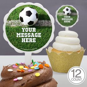 Soccer Personalized Cupcake Picks (12 Count)