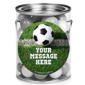 Soccer Personalized Mini Paint Cans (12 Count)