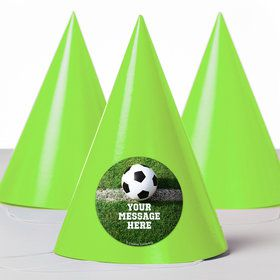 Soccer Personalized Party Hats (8 Count)