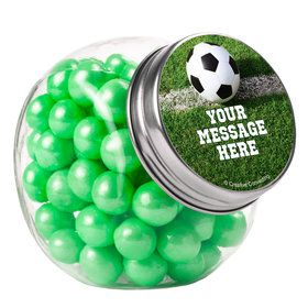 Soccer Personalized Plain Glass Jars (10 Count)
