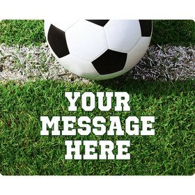 Soccer Personalized Rectangular Stickers (Sheet of 15)
