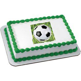Soccer Quarter Sheet Edible Cake Topper (Each)