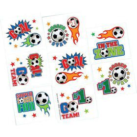 Soccer Tattoo Favors (16 Pack)