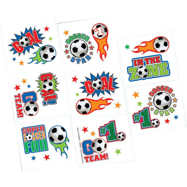 Soccer Tattoo Favors (16 Pack) - Party Supplies BB392627
