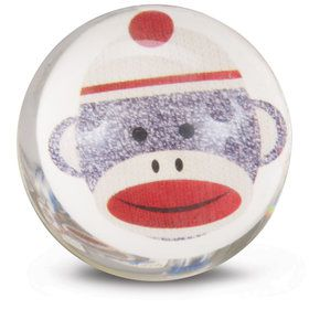 Sock Monkey Red Bounce Balls (8)