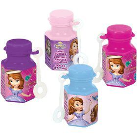 Sofia the First .6oz Mini Bubble Favors (12 Pack)