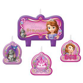 Sofia the First Birthday Candle Set (Each)