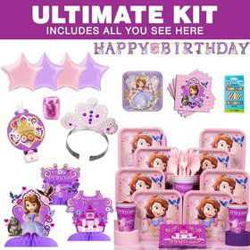Sofia The First Birthday Party Ultimate Tableware Kit Serves 8