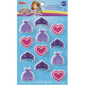 Sofia the First Edible Icing Decorations (12 Pack)