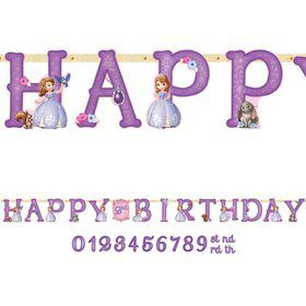 Sofia the First Jumbo Add-An-Age Letter Banner (Each)