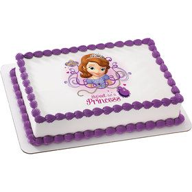Sofia the First Quarter Sheet Edible Cake Topper (Each)